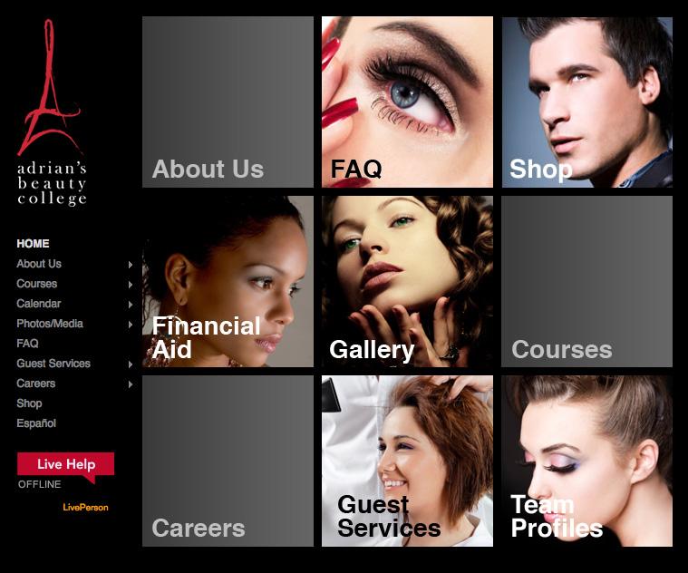 Adrian's Beauty College Website