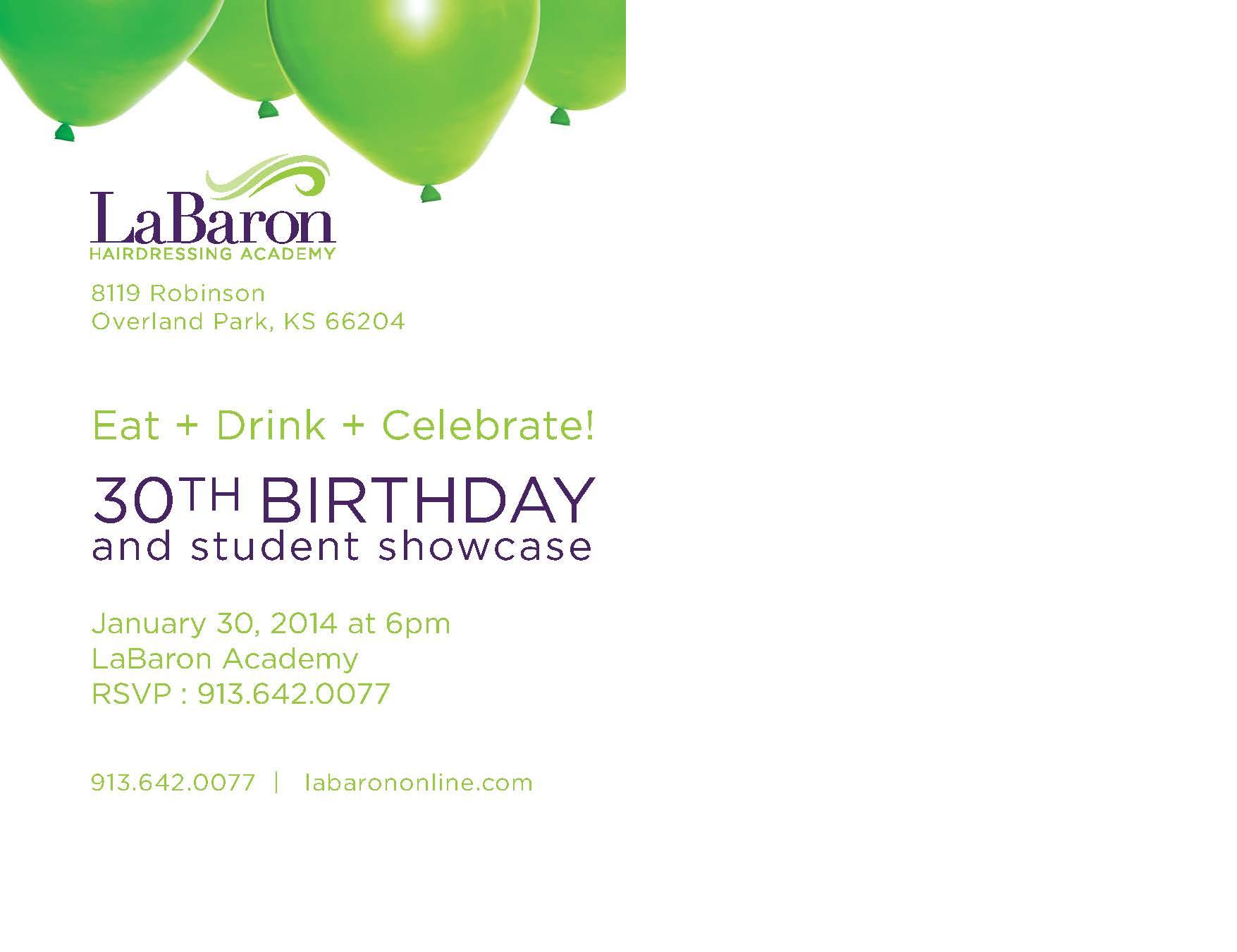 Labaron Birthday Card - Back